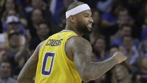 "Demarcus ""Boogie"" Cousins joined the Lakers"