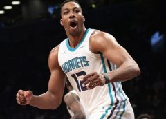 Dwight Howard during a NBA seasonal match in Hornets' roster