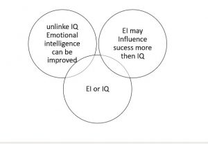 Emotional Intelligence and IQ diagram
