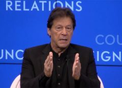 Imran Khan Prime Minister of Pakistan at foreign relations press conference USA UNGA