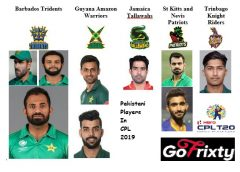 Pakistani Cricket players in CPL 2019 by GoFrixty