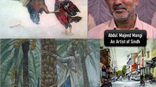 Abdul Majeed Mangi an artist of sindh biography