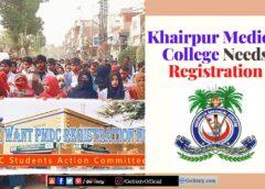 Khairpur Medical College KMC needs registration
