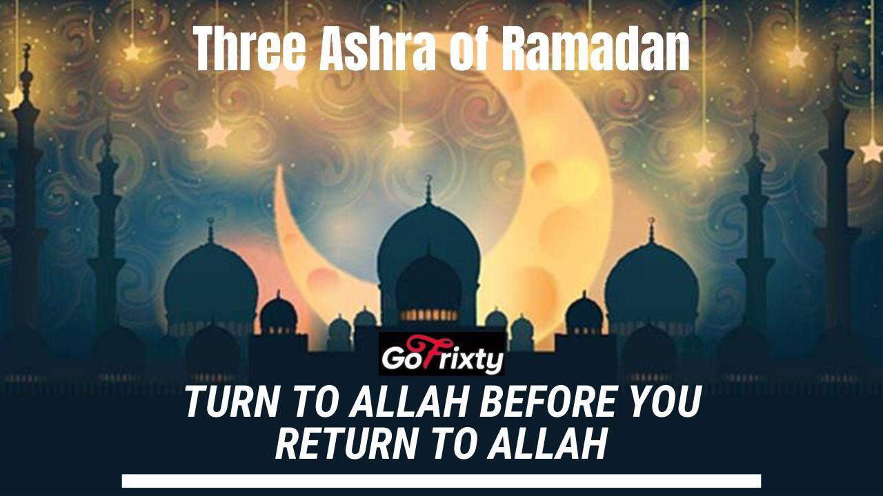 Three Ashra of Ramadan designed for Gofrixty