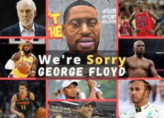 high-profile sports stars including Michael Jordon, LeBron James, Trae Young, Floyd Mayweather, Tiger Wood, Lewis Hamilton, and others have expressed barbarity at George Floyd's death