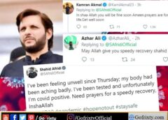 Shahid Afridi tested covid19 positive