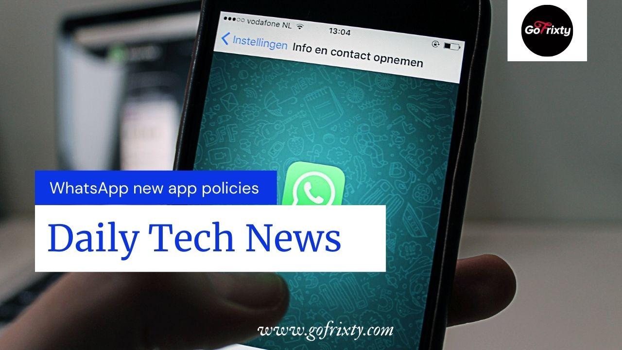 WhatsApp new app policies 2021